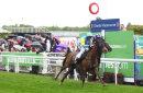 Anipa (Andrea Atzeni) wins the Cheshire Oaks at Chester races, May 2014.