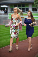 All dressed up for a day at Chester races, May 2014.
