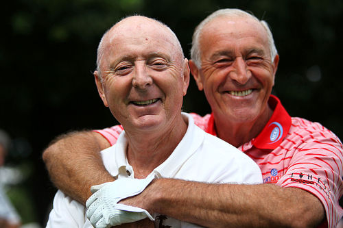 Len Goodman playing golf.