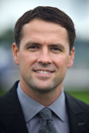 Footballer Michael Owen at Chester races, May 2014.