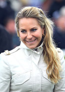 Ch4's Emma Spencer at Chester races, May 2014.
