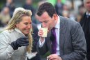 Ch. 4's Emma Spencer & Nick Luck at Chester races, May 2014.