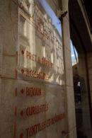 Shops reflected at La Rochelle.