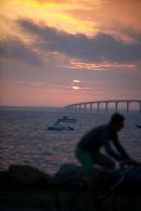Pont de Re early morning Ile de Re.