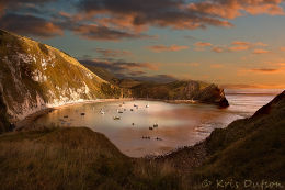 Lulworth-Cove-Sunset