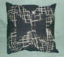 BLM393 Black shibori cushion cover