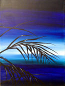 Blue Sunset Palm