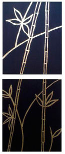 Bamboo - in Gold Leaf