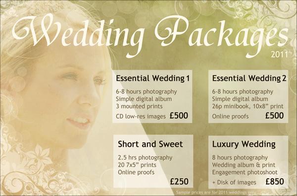 Sarah leigh photography 2011 weddings sample prices for Wedding photography packages samples