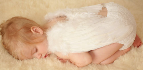 Sleeping baby angel