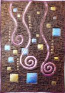 Marjolijn's super piece from the Netherlands made from a Klimt kit she bought at The Festival of Quilts