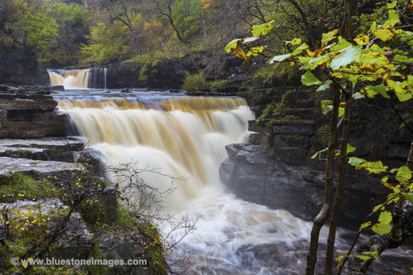 01M-6014 The River Swale at Kisdon Force Near Keld Swaledale Yorkshire Dales UK