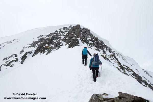 01M-9063 Climbing Swirral Edge Helvelyn Lake District Cumbria UK