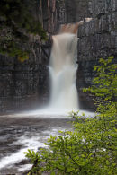 02D-8581 The River Tees Flowing Over High Force Waterfall Upper Teesdale County Durham UK