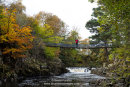 02M-9352 Walker Enjoying the View From Wynch Bridge in Autumn Upper Teesdale County Durham England UK