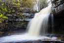 02M-9476 Summerhill Force and Gibson's Cave in Autumn Bowlees Teesdale County Durham UK