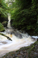 03D-7250 Catrigg Force Waterfall in Early Autumn Stainforth Ribblesdale Yorkshire Dales UK