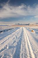 06-1412 Cronkley Fell and Noon Hill in Winter from the Silver Band Mine Track, Teesdale, County Durham