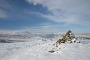 06-1418 Cronkley Fell and Noon Hill in Winter from the Cairn, Whiteholm Bank, Upper Teesdale, County Durham.