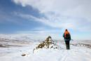 06-1420 Cronkley Fell and Noon Hill in Winter from Cairn, Whiteholm Bank, Upper Teesdale, County Durham