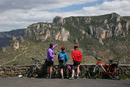 06-3032 Mountain Bikers Enjoying the View, Gorge de la Jonte, Cevennes National Park, France