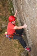 06-8067 Rock Climber, Goldsborough Crag, Teesdale, County Durham.