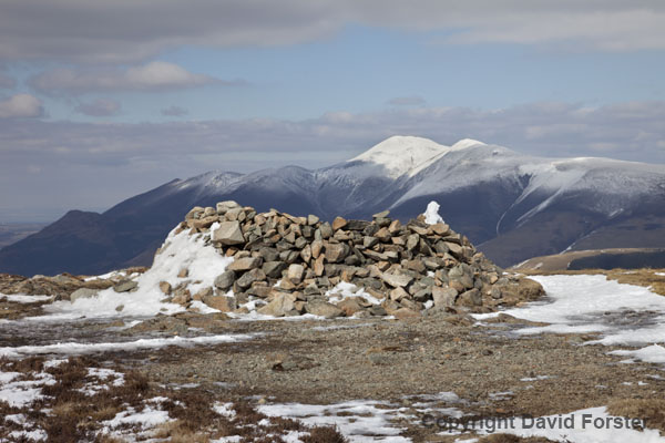 06D-3637 Skiddaw from the Summit of Bleaberry Fell in Winter Lake District Cumbria UK