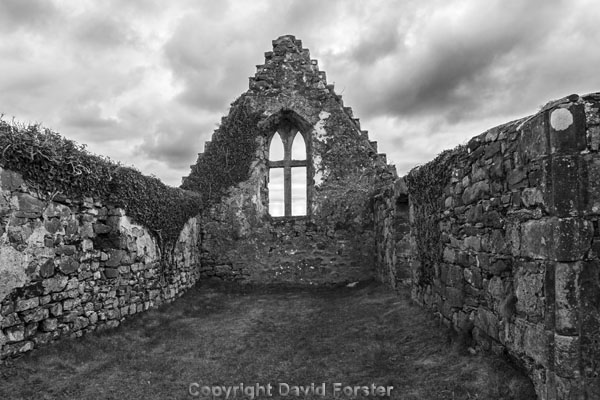 06D-7012BW The Ruined Balnakeil Church Near Durness Scotland UK