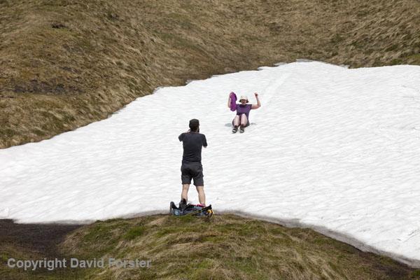 06D-8613 Sandra Sliding on Snow