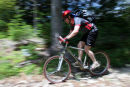 07-2051 Male Mountain Biker High Speed Blur