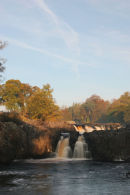07-3767 Low Force Waterfall in Autumn Teesdale County Durham