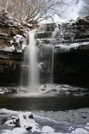 4045 Summerhill Force and Gibsons Cave in Winter, Bowlees, Teesdale, County Durham