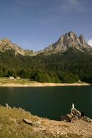 D2-19 Lac de Bious-Artigues and the Pic du Midi D'Ossau, French Pyrenees.