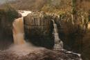 D231.3 High Force Waterfall in Flood Conditions, River Tees, Teesdale, County Durham.