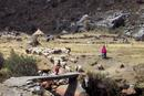 029 Mother and Daughter Herding Sheep, Cordillera Blanca Peru.