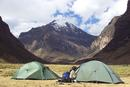 Peru 034 Camping in the Q Quilcayhuanca Valley with Andavite Mountain in the Background, Cordillera Blanca
