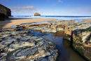 Low Tide at Trebarwith Strand - Cornwall