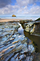 Stream at Trebarwith Strand, Cornwall