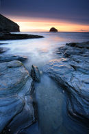 Trebarwith Strand Sunset - Cornwall