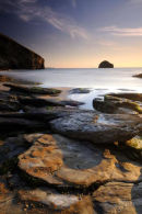 Trebarwith Strand at sunset II - North Cornwall