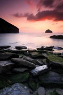 Trebarwith strand at sunset III - North Cornwall