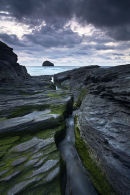 Channelled Through Time - Trebarwith Strand, Cornwall