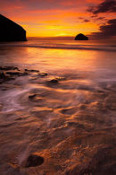 Final Glow - Trebarwith Strand, Cornwall