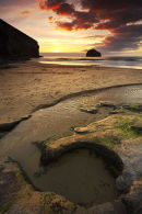 A Circle In Stone - Trebarwith Strand, Cornwall