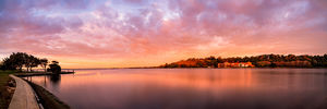 The Old Swan Brewery and Swan River at Sunrise