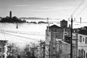 Misty dawn in San Francisco