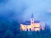 Swiss chapel at twilight