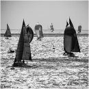 Monochrome yachts in the Solent