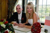 Cheryl and Mark signing register