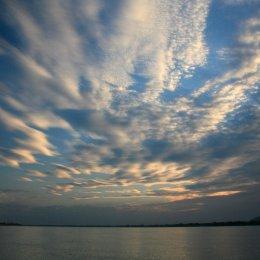 Big sky, Mekong River, Laos